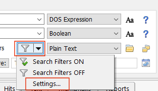 Persistent Search Filters Settings