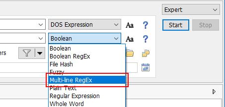 Multi-line regex